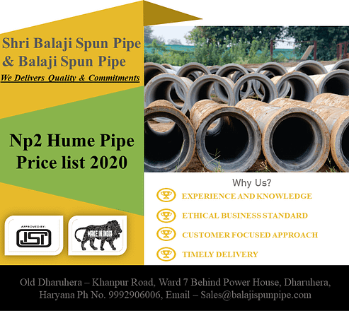 Np2 Hume Pipe Price List